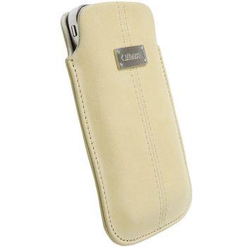Krusell pouzdro Luna Nubuck XXL - Samsung Galaxy S II,LG Optimus Black 125x69x14 mm (písková)