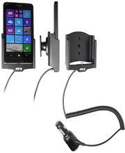Brodit držák do auta na Microsoft Lumia 640 bez pouzdra, s nabíjením z cig. zapalovače