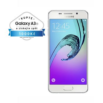 Samsung Galaxy A3 2016 (SM-A310F), 16GB, bílá, akce cashback 1 000 Kč