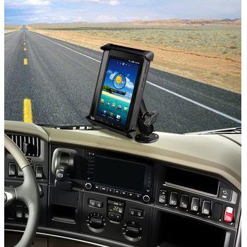 """RAM Mounts univerzální držák na tablet 7"""" až 8"""" do auta na palubní desku, skútr, atd. na šroubky nebo vruty, AMPS, čelisťový, sestava RAM-B-138-TAB-SMU"""