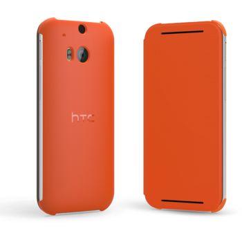 HTC flipové pouzdro HC V941 pro HTC One (M8), oranžové