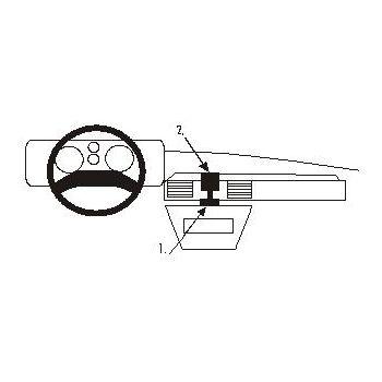 Brodit ProClip montážní konzole pro Land Rover Discovery 1+2 90-93, na střed
