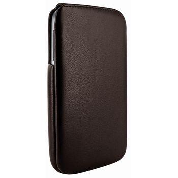 Piel Frama pouzdro pro Samsung Galaxy S4 iMagnum, Brown