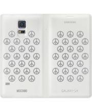 Samsung flipové pouzdro Moschino EF-WG900RA pro S5, White + Silver