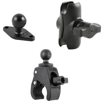 RAM Mounts sestava s lichoběž. adapt., krátkým ramenem s velkou svěrkou s ručním upínáním pro Ø  25,4 - 57,15 mm, RAM-B-401-AU