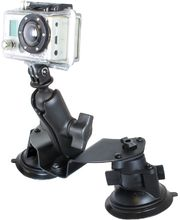 RAM Mounts držák na GoPro Hero do auta nebo letadla s 2x extra silnou přísavkou na sklo, sestava RAM-B-189B-GOP1U