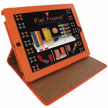 Piel Frama pouzdro pro iPad 4 Cinema, Crocodile Orange