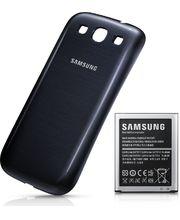 Samsung originální rozšířená baterie EB-K1G6UB pro Samsung Galaxy S III, 3000mAh,včetně krytu, modrá
