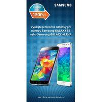 Získejte 1 500 Kč zpět při nákupu Samsung Galaxy S5 nebo Galaxy Alpha!