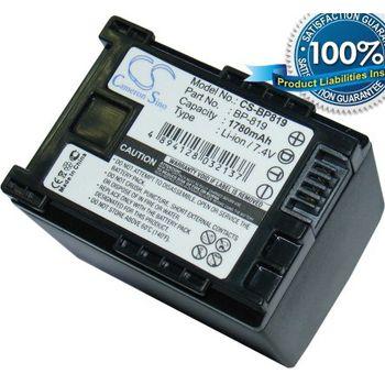 Baterie (ekv. BP-819) pro Canon videokamery HF10, HF100, Li-ion 7,4V 1780mAh