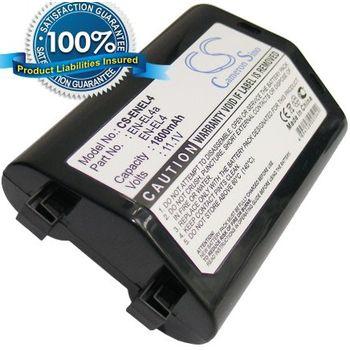 Baterie (ekv. EN-EL4a) pro Nikon D2H, D2Hs, D2X, D2Xs, D3, D3X, F6, Li-ion 11,1V 1800mAh