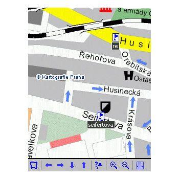 Sunnysoft MapView na vlastní mapy v PDA