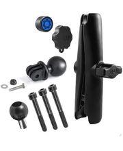RAM Mounts adaptér pro outdoorové kamery GoPro Hero s dlouhým ramenem se zabezpečením a s úchytem na motorku na řídítka místo šroubu M8, sestava RAM-B-186-GOP1-KNOB3-CU
