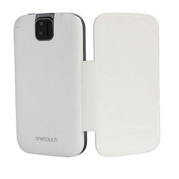 Alcatel One Touch 991 Flip pouzdro bílé