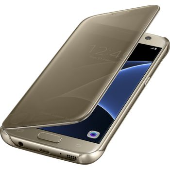 Samsung flipové pouzdro Clear View EF-ZG930CF pro Galaxy S7, zlaté