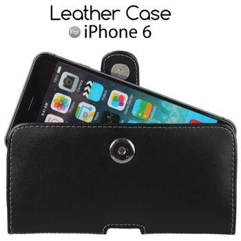 Brando kožené pouzdro Pouch pro Apple iPhone 6, černé