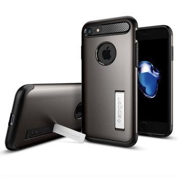 Spigen ochranný kryt Slim Armor pro iPhone 7, kovově šedá