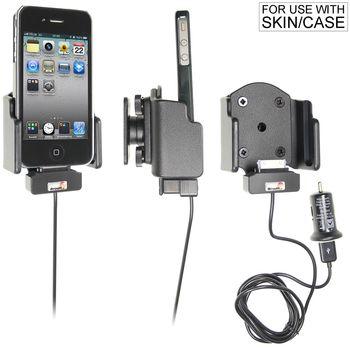 Brodit držák do auta na Apple iPhone 4/4S v pouzdru Bumper,nastavitelný, s nab z cig. zapalovače/USB