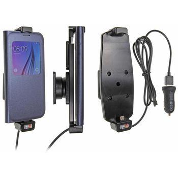 Brodit držák do auta na Samsung Galaxy S6/S6 Edge v pouzdru, s pružinou, s nabíjením z CL/USB