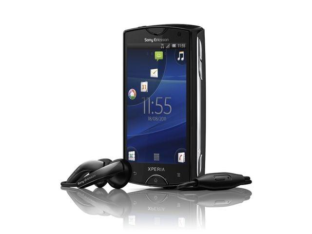 obsah balení Sony Ericsson Xperia mini - černá + náhradní originální baterie Sony Ericsson