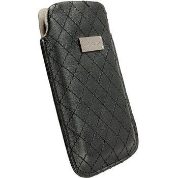 Krusell pouzdro Avenyn L - iPhone 4S/4, Nokia N8/C6/C7, HTC Desire/HD/Wildfire 62x116x12mm (černá)