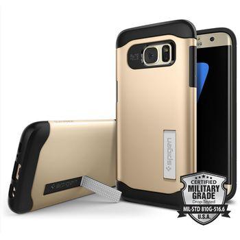 Spigen pouzdro Slim Armor pro Galaxy S7 edge, růžové