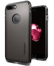 Spigen ochranný kryt Hybrid Armor pro iPhone 7 plus, kovově šedá