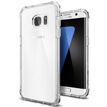 Spigen pouzdro Crystal Shell pro Galaxy S7 edge, průhledné
