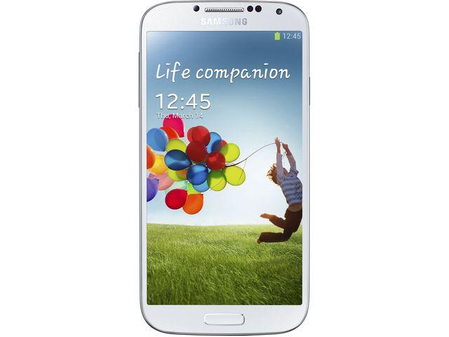 obsah balení Samsung Galaxy S 4 White Frost + Flipové pouzdro Samsung S-view, bílé