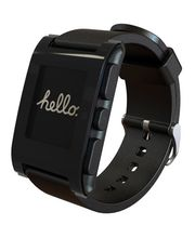 Pebble - chytré hodinky pro iOS a Android - černé