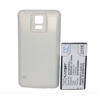 Baterie pro Samsung Galaxy S5 5600mAh rozšířená, bílý kryt