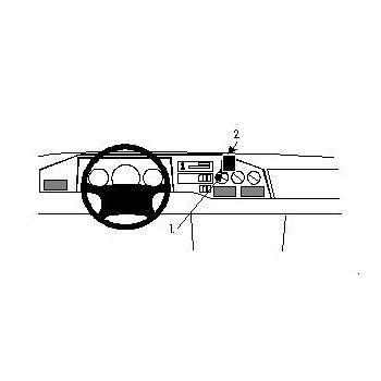 Brodit ProClip montážní konzole pro MB Sprinter 95-99,VW LT 35/LT 46/LT 28/LT 31 97-05, na střed