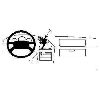 Brodit ProClip montážní konzole pro Mazda MX 3 94-97, na střed