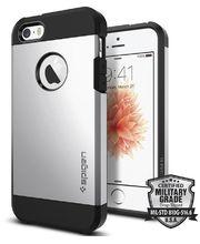 Spigen pouzdro Tough Armor pro iPhone SE/5s/5, stříbrná
