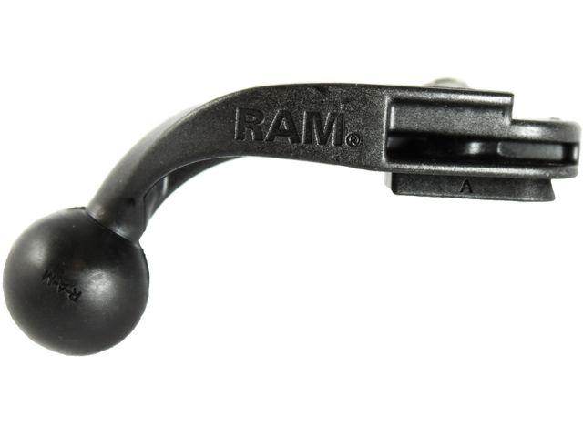 obsah balení RAM Mounts sestava držáku na zpětné zrcátko do automobilu se stativovým závitem na středně velké kamery a foto, tvrzený plast, sestava RAP-B-369A-366U