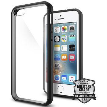 Spigen pouzdro Ultra Hybrid pro iPhone SE/5s/5, černá