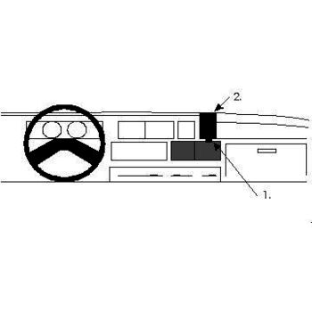 Brodit ProClip montážní konzole pro Fiat Ducato 83-94, na střed
