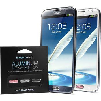 Spigen Samsung Galaxy Note II - hliníkové domácí tlačítko - 3 barvy
