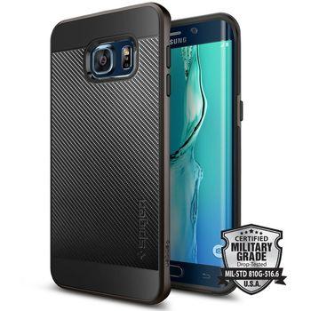 Spigen pouzdro Neo Hybrid Carbon pro Samsung GALAXY S6 edge+, kovově šedé