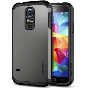 Spigen Tough Armor pouzdro pro Samsung Galaxy S5 Gunmetal, šedé