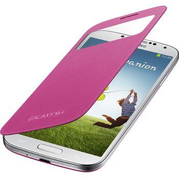 Samsung flipové pouzdro S-view EF-CI950BP pro Galaxy S4 (i9505), růžové