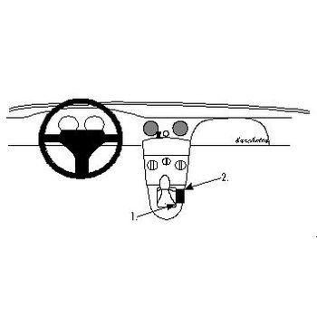Brodit ProClip montážní konzole pro Fiat Barchetta 95-07, na středový tunel