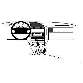 Brodit ProClip montážní konzole pro BMW 316-328 E36 91-98, na středový tunel