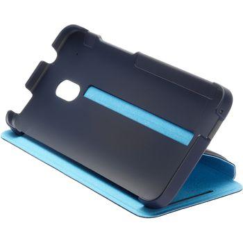 HTC flipové pouzdro se stojánkem Double Dip Flip HC V851 pro HTC One mini, tmavě modro světle modré