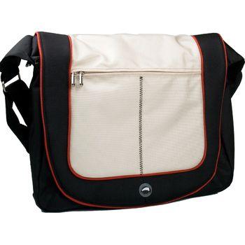 "Krusell Radical Messenger taška na notebook - do 16"" - černá/slonovina"