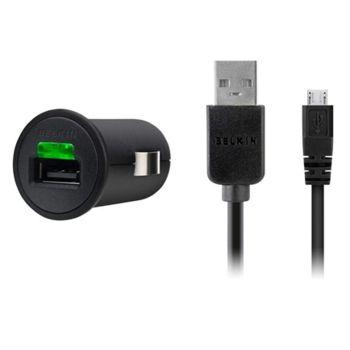 Belkin USB 1A nabíječka do auta vč. microUSB kabelu (F8M127cw03)