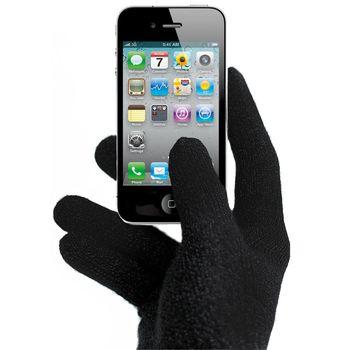 Zimní rukavice vel. S pro iPhone, iPad, HTC, Samsung, LG, Motorola, SonyEricsson - černé