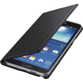 Samsung flipové pouzdro s kapsou EF-WN750BB pro Galaxy Note 3 Neo, černé