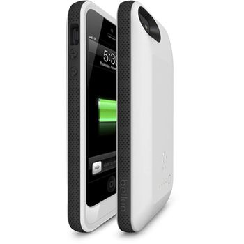 Belkin Grip Power kryt s baterií pro iPhone 5/5S, černo-bílý