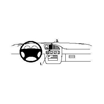 Brodit ProClip montážní konzole pro Ford Granada 95-00/Scorpio 95-00, na střed